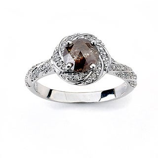 Neda Behnam DFAC 18k White Gold 1 1/3ct TDW Natural Brown Diamond Ring (H-I, SI1-SI2)