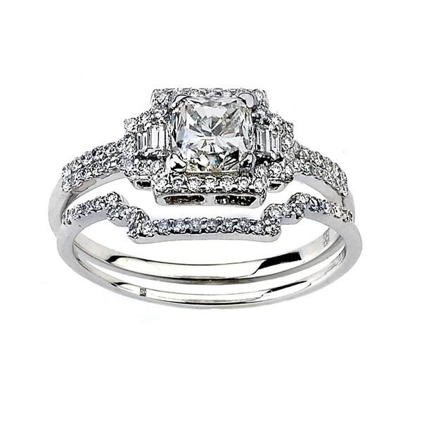 Neda Behnam DFAC 18k White Gold 1 1/2ct TDW Diamond Engagement Ring