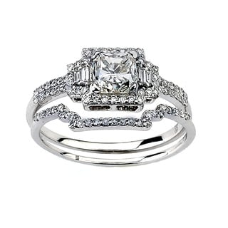 Neda Behnam DFAC 18k White Gold 1 1/2ct TDW Diamond Engagement Ring (G-H, SI1-SI2)