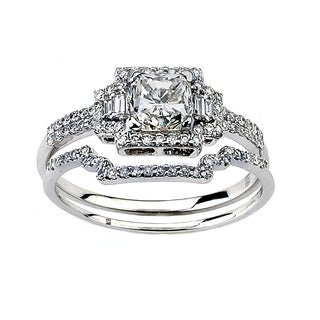 Neda Behnam DFAC 18k White Gold 1 1/2ct TDW Diamond Engagement Ring