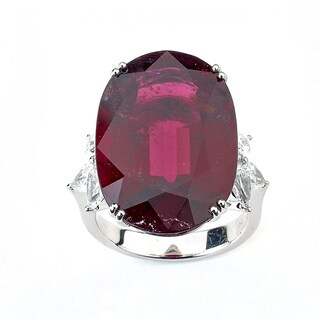 Diamonds For A Cure 18k White Gold Tourmaline and 2ct TCW Diamond Ring by Neda Behnam(G-H, SI1-SI2)
