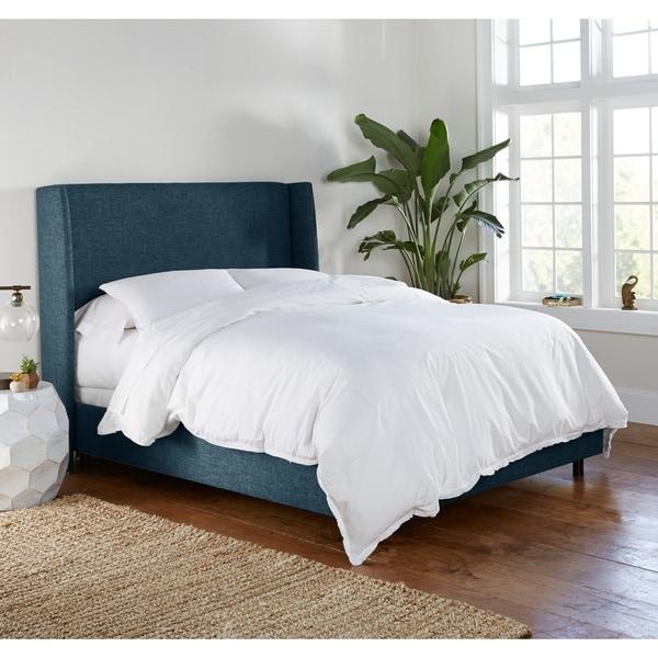skyline furniture wingback bed | Shop Skyline Furniture Wingback Bed in Zuma Navy - Free ...