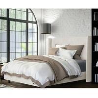 Skyline Furniture Wingback Bed in Zuma White