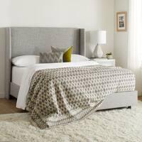 Skyline Furniture Wingback Bed in Zuma Pumice