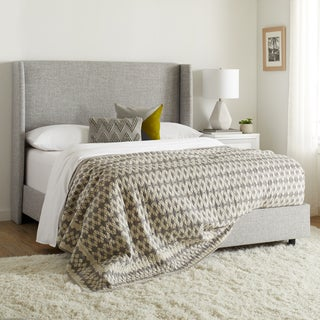 Wingback Bed in Zuma Pumice- Skyline Furniture