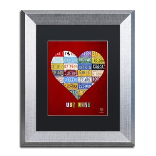 Design Turnpike 'Heart' Black Matte, Silver Framed Canvas Wall Art