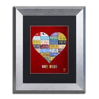 Design Turnpike 'Heart' Black Matte, Silver Framed Canvas Wall Art