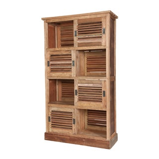 Reclaimed Wood Louvred Cabinet