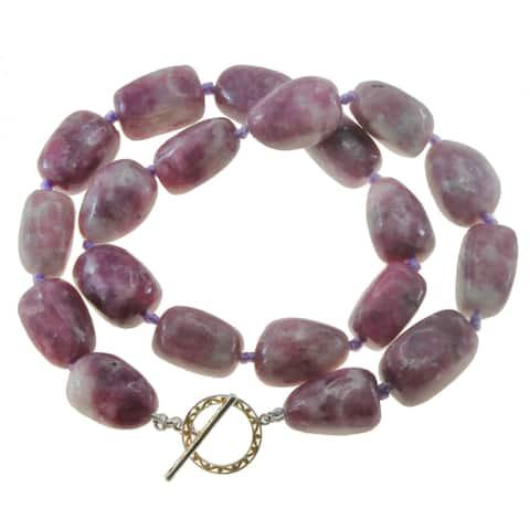 "One-of-a-kind Michael Vallituti 18"" Pink Tourmaline Gemstone Necklace"