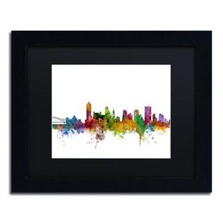 Michael Tompsett 'Memphis Tennessee Skyline' Black Matte, Black Framed Canvas Wall Art