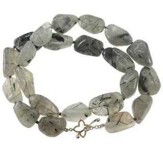 "One-of-a-kind Michael Vallituti 22"" Rutilated Quartz Gemstone Necklace"