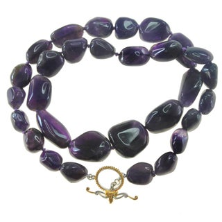 "One-of-a-kind Michael Vallituti 22"" Amethyst Gemstone Necklace"