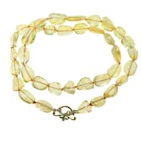 """One-of-a-kind Michael Vallituti 22"""" Small Citrine Gemstone Necklace"""