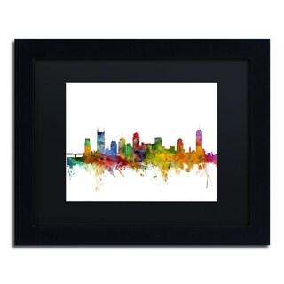 Michael Tompsett 'Nashville Tennessee Skyline' Black Matte, Black Framed Canvas Wall Art