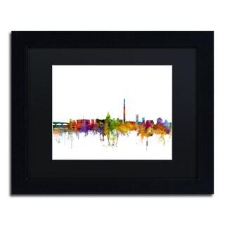 Michael Tompsett 'Washington DC Skyline II' Black Matte, Black Framed Canvas Wall Art