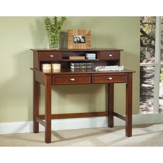 Home Styles Hanover Cherry Student Desk and Hutch