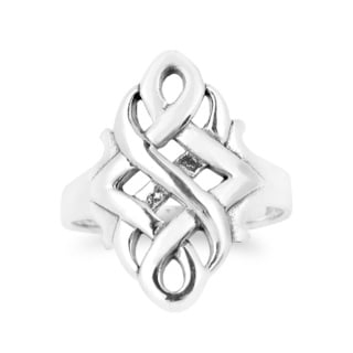 Handmade Infinity Celtic Love Knot .925 Sterling Silver Ring (Thailand)