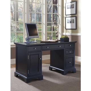 Home Styles Bedford Black Pedestal Desk