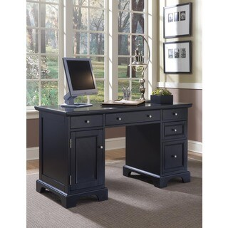 Bedford Black Pedestal Desk