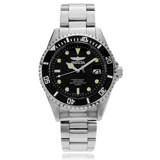 Invicta Men's 8932 OB Pro Diver Black Dial Link Watch