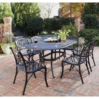 "Home Styles Biscayne 7-piece Dining Set 72"" Oval Table with Six Arm Chairs"