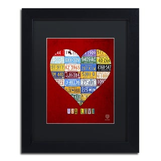 Design Turnpike 'Heart' Black Matte, Black Framed Canvas Wall Art