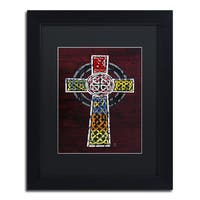 Design Turnpike 'Celtic Cross' Black Matte, Black Framed Canvas Wall Art