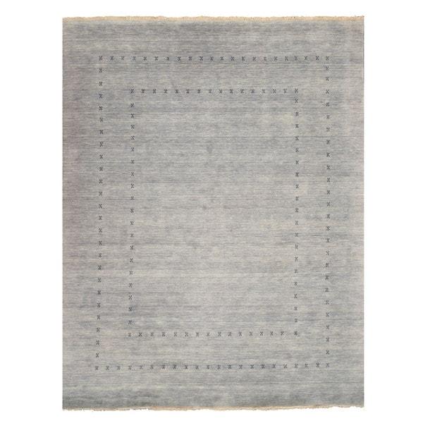 Handmade Wool Gray Traditional Solid Lori Baft Rug (10u0027 X ...