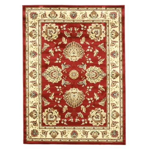 """Red Traditional Oriental Allover Kashan Rug - 5'3"""" x 7'3"""""""