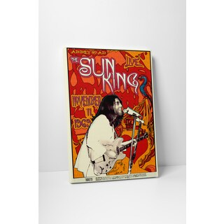 'The Sun King' Gallery Wrapped Canvas Wall Art - Red