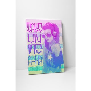 'Take on Me' Gallery Wrapped Canvas Wall Art - Purple