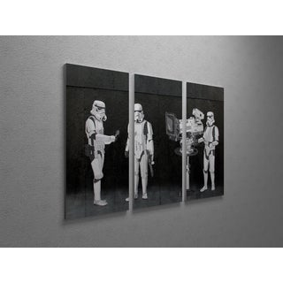 Banksy 'Stormtroopers Filming the Oscars' Triptych Gallery-wrapped Canvas Wall Art