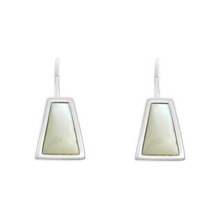 La Preciosa Sterling Silver Small Mother of Pearl Triangle Earrings