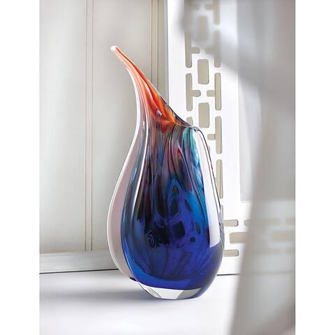 Copper Grove Senj Dreamy Blue Glass Vase