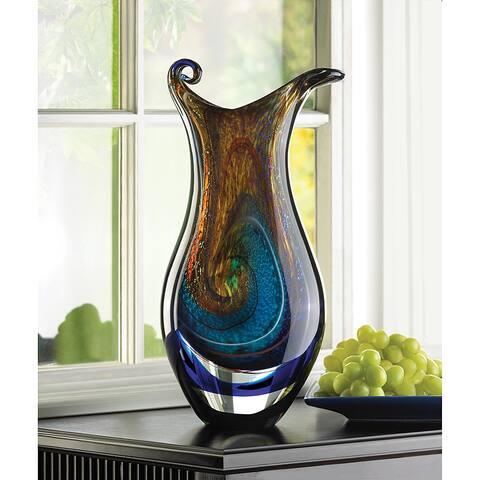 Copper Grove Senj Tiffany Swirl Glass Vase