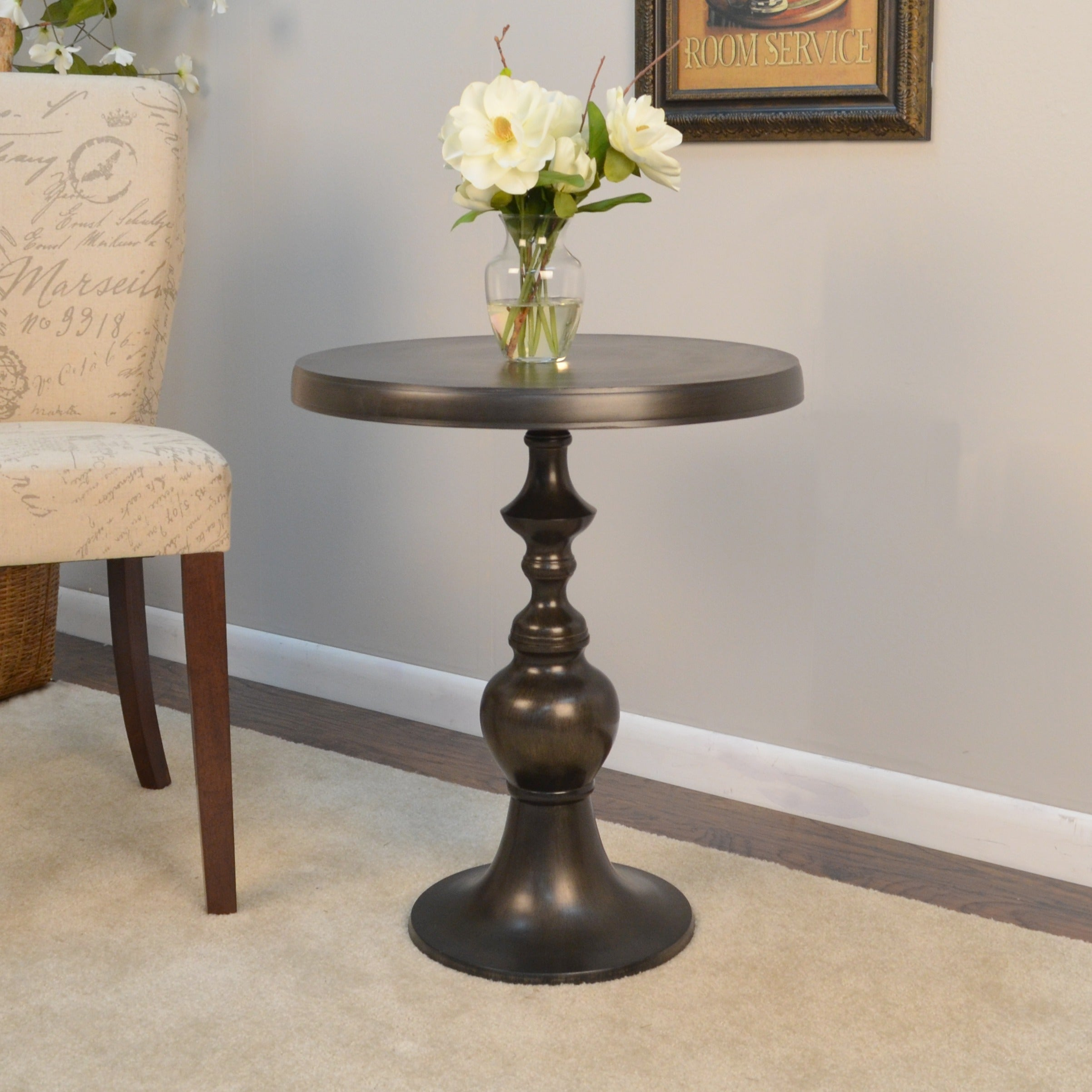 Unbranded Machinto Accent Table (Old World), Brown