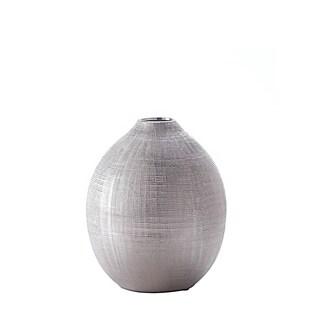 Arcadian Silver Round Vase