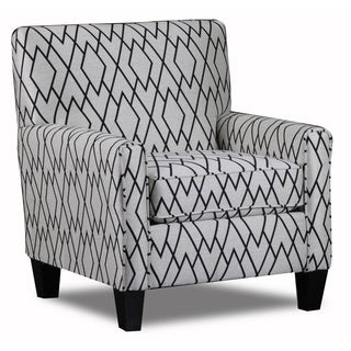 The Wellington Facet Ivory Accent Chair