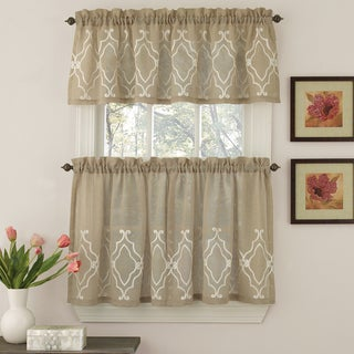 Semi-Opaque Chain Stitched Geometric Motif Window Curtain Pieces - Tiers and Valance Options https://ak1.ostkcdn.com/images/products/10898947/P17932630.jpg?_ostk_perf_=percv&impolicy=medium