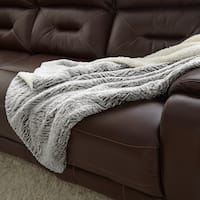 Amraupur Overseas Faux Fur Reverse to Sherpa Throw