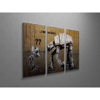 'Banksy 'Fatherhood' Triptych Gallery Wrapped Canvas Wall Art
