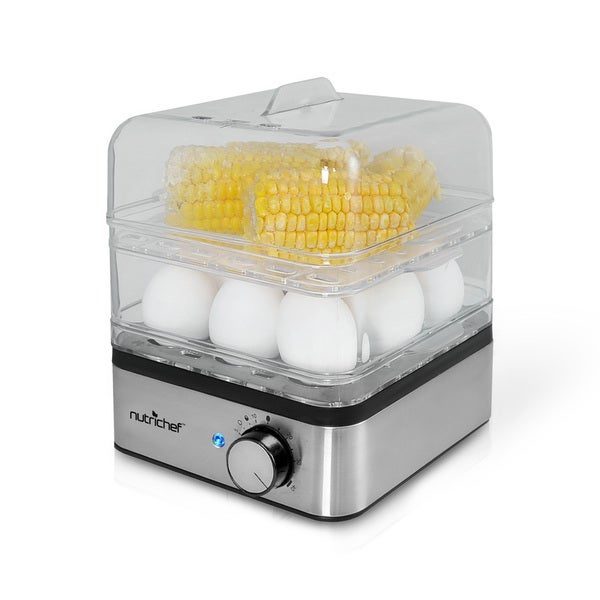 Kitchen Living Food Steamer: Shop NutriChef PKEC12 Electronic Food Steamer, Egg Cooker