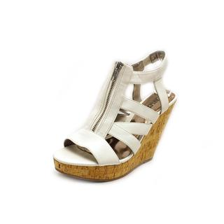 Carlos Santana Women's 'Kaila' Faux Leather Wedges Sandals
