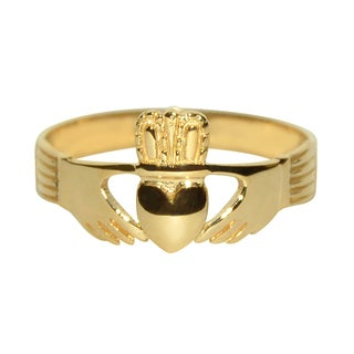 14k Yellow Gold Classic Celtic Claddagh Ring