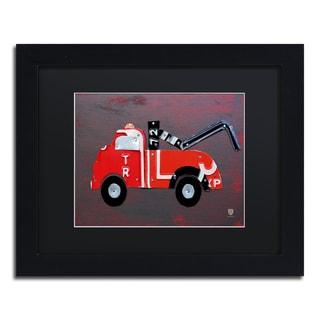 Design Turnpike 'Tow Truck' Black Matte, Black Framed Canvas Wall Art