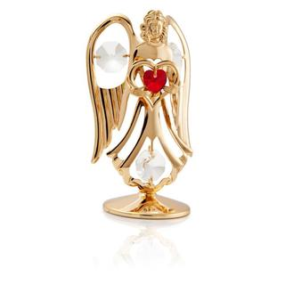 Matashi 24K Gold Plated July Angel Birth Stone Table Top with Genuine Matashi Crystals