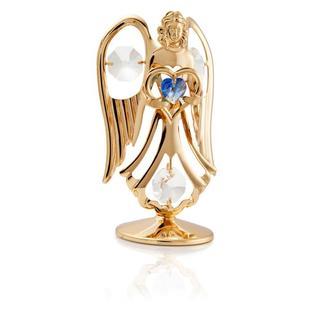 Matashi 24K Gold Plated September Angel Birth Stone Table Top with Genuine Matashi Crystals