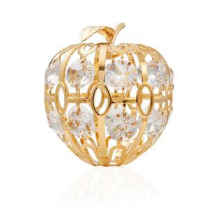 Matashi 24K Gold Plated Beautiful Apple Ornament with Genuine Matashi Crystals