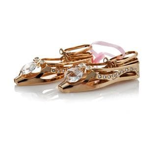 Matashi 24K Gold Plated Highly Polished Ballerina Shoes with Genuine Matashi Crystals