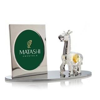 Matashi Silver Cartoon Giraffe Picture Frame with Genuine Matashi Crystals